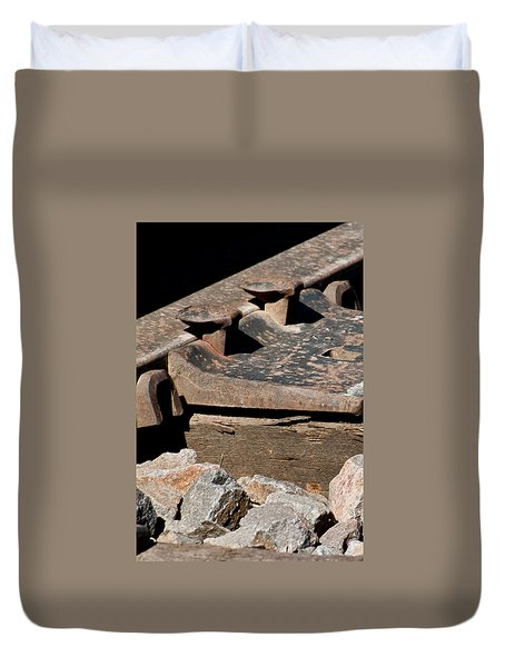Duvet Cover featuring the photograph Rusted Rail by Colleen Coccia
