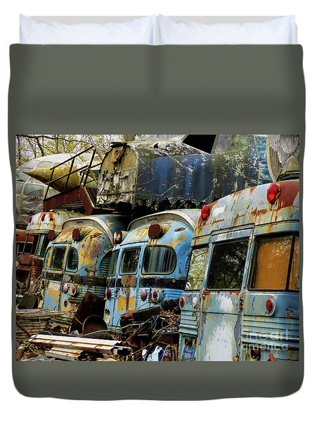 Rusted Series Duvet Cover by Laura Atkinson