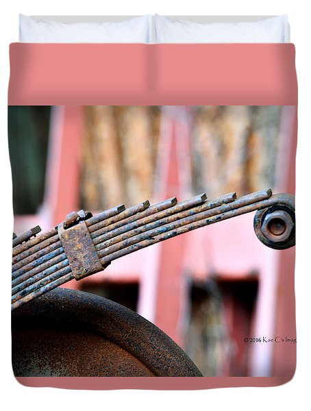 Rusted Suspension Part  Duvet Cover