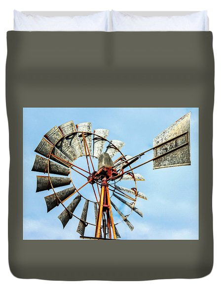 S And L Windmill Duvet Cover