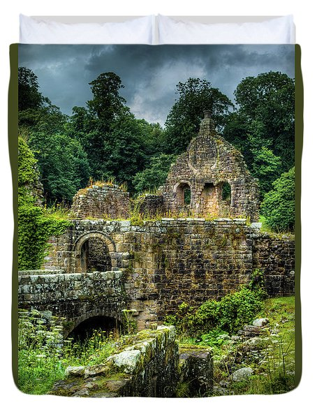 Rustic Abbey Remains Duvet Cover