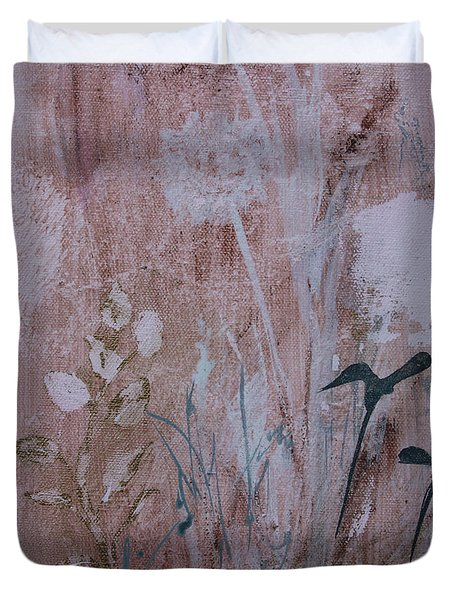 Duvet Cover featuring the painting Rustic Breeze by Robin Maria Pedrero