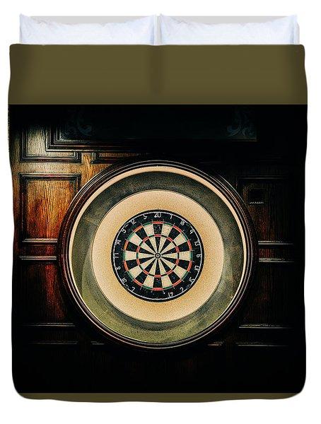 Rustic British Dartboard Duvet Cover