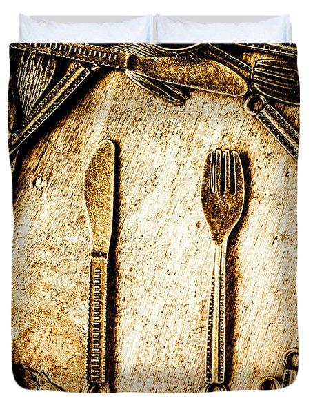 Rustic Catering Duvet Cover