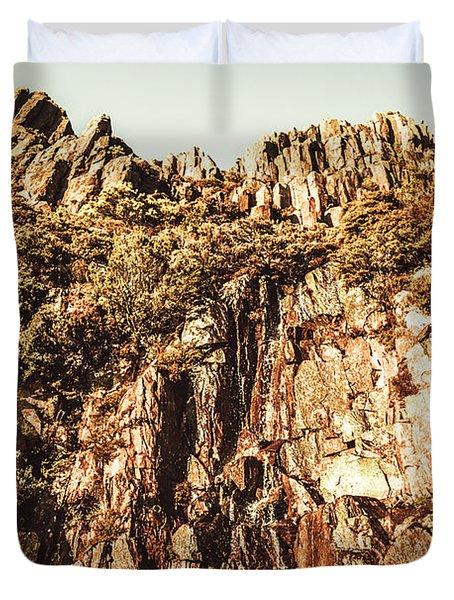 Rustic Cliff Spring Duvet Cover