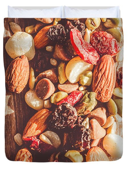 Rustic Dried Fruit And Nut Mix Duvet Cover