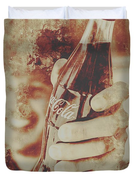 Rustic Drinks Advertising  Duvet Cover