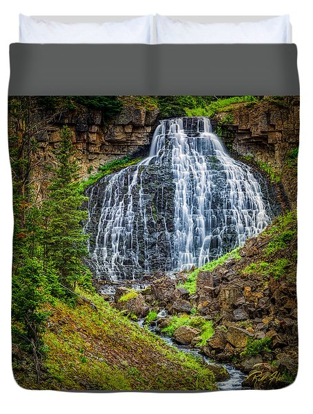 Duvet Cover featuring the photograph Rustic Falls  by Rikk Flohr