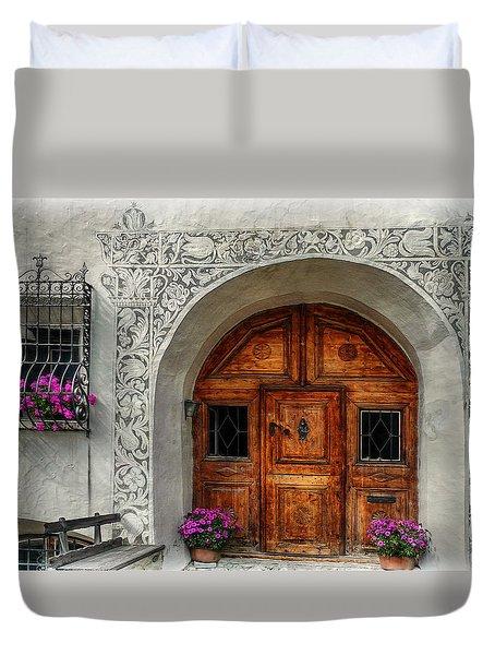 Rustic Front Door Duvet Cover by Hanny Heim