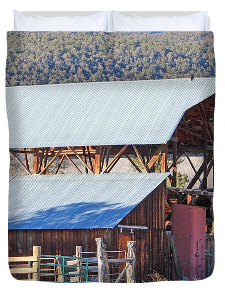 Rustic Hay Barn Cedaredge Colorado Duvet Cover