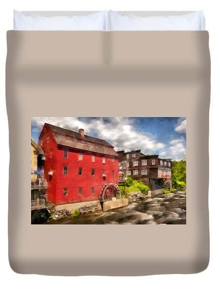 Rustic Historic Grist Mill Littleton, Nh Duvet Cover by Betty Denise