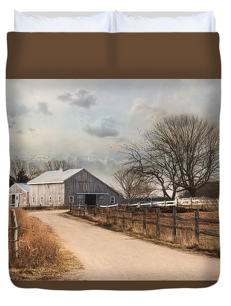 Duvet Cover featuring the photograph Rustic Lane by Robin-Lee Vieira