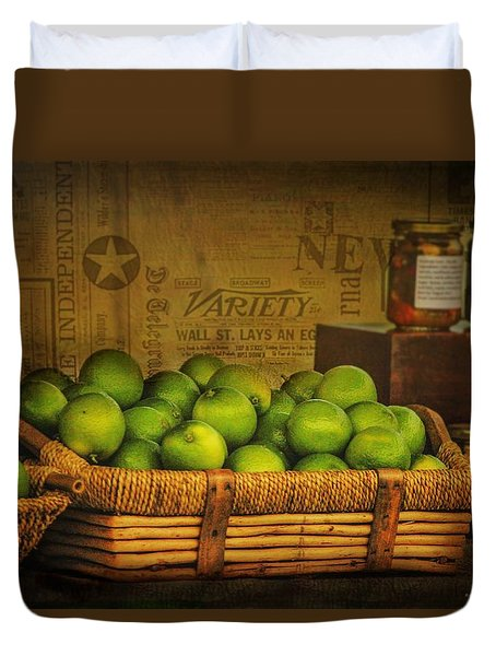 Rustic Limes Duvet Cover by Wallaroo Images