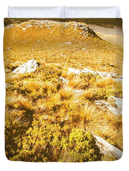 Rustic Mountain Terrain Duvet Cover