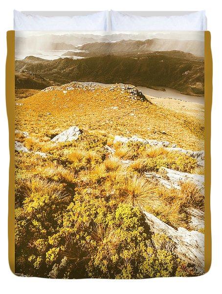 Rustic Mountain Terrain Duvet Cover
