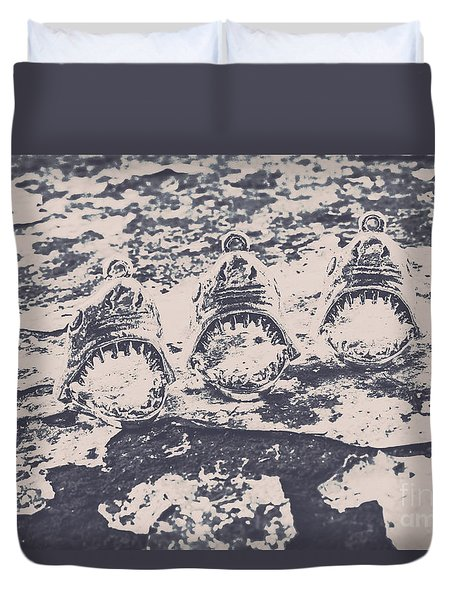 Rustic Nautical Artwork Duvet Cover