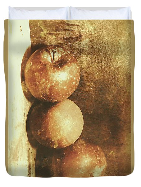 Rustic Old Apple Box Duvet Cover