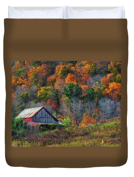 Rustic Out Building In Southern Ohio  Duvet Cover