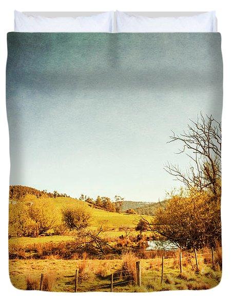 Rustic Pastoral Australia Duvet Cover