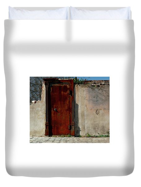 Rustic Ruin Duvet Cover by Lori Mellen-Pagliaro