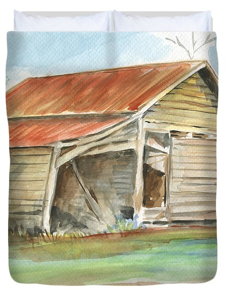 Rustic Southern Barn Duvet Cover