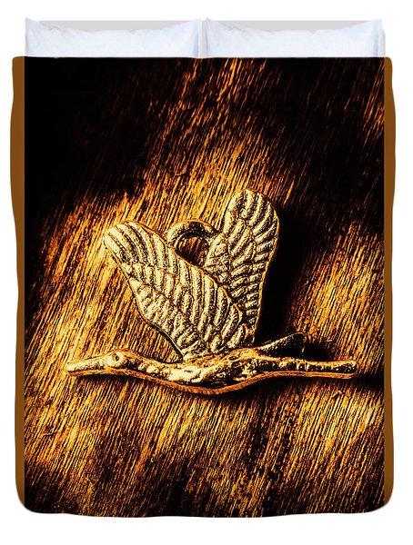 Rustic Stork Pendant Duvet Cover