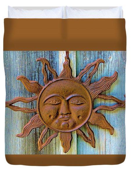 Rustic Sunface Duvet Cover