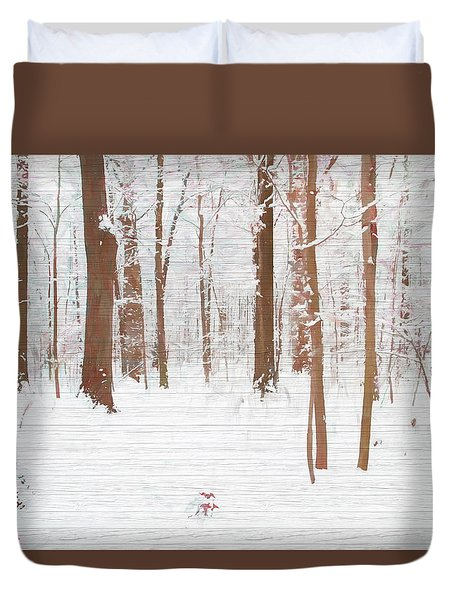 Rustic Winter Forest Duvet Cover by Dan Sproul