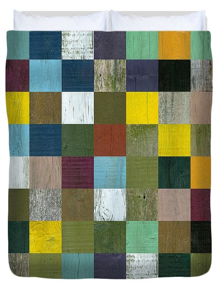 Rustic Wooden Abstract Duvet Cover by Michelle Calkins