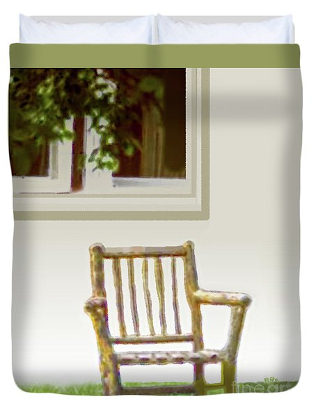 Rustic Wooden Rocking Chair Duvet Cover