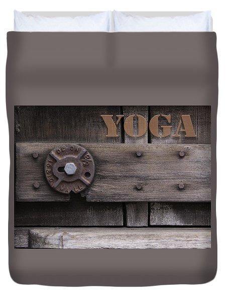 Rustic Yoga Duvet Cover