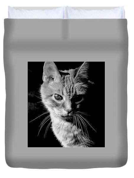 Rustie, Blind, Deaf Extroadinaire Black And White Duvet Cover