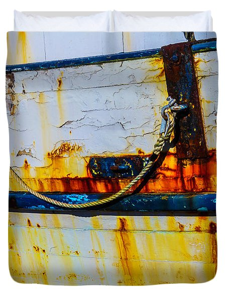 Rusting Fishing Boat Detail Duvet Cover