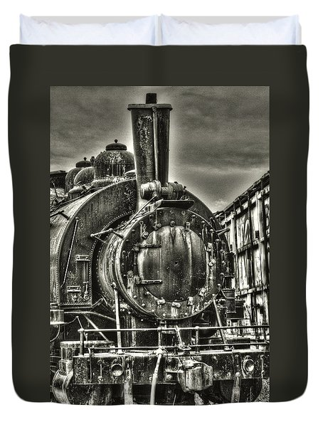 Rusting Locomotive Duvet Cover