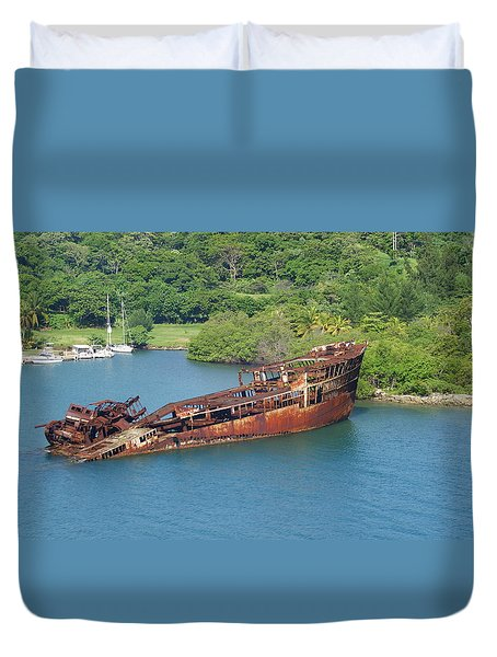 Duvet Cover featuring the photograph Rusting by Lois Lepisto