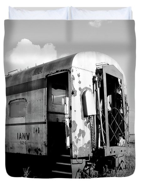 Rusting On The Rails Duvet Cover