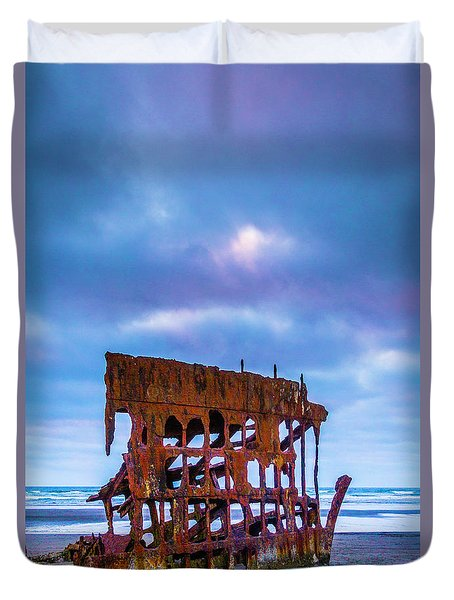 Rusting Peter Iredale Duvet Cover