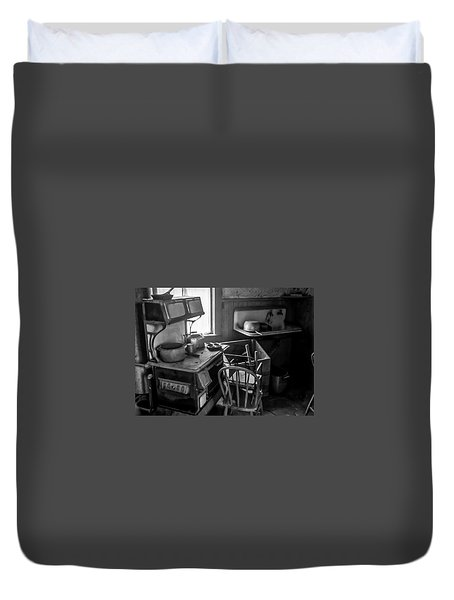 Rusting Pots And Pans, Bodie Ghost Town Duvet Cover