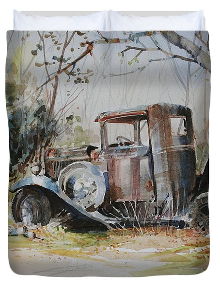 Rusting Relic  Duvet Cover
