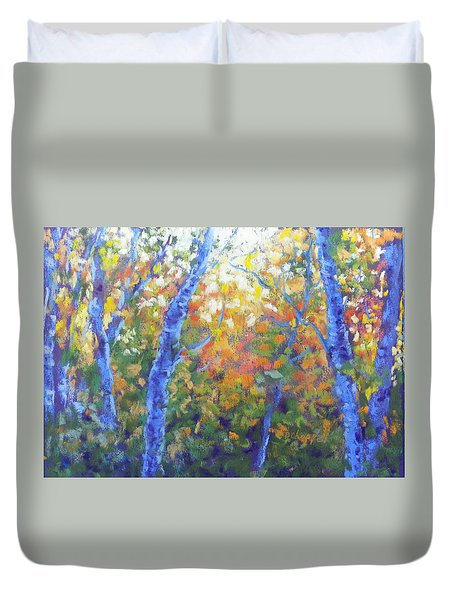 Rustlers Gulch Afternoon Duvet Cover by Becky Chappell