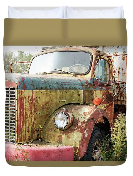 Rusty And Crusty Reo Truck Duvet Cover