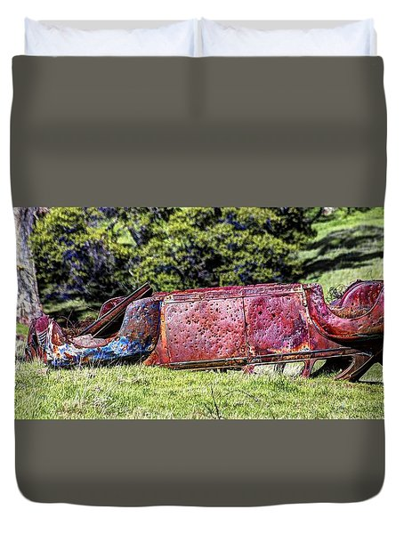 Rusty And Forgotten Duvet Cover