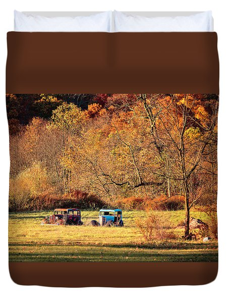 Duvet Cover featuring the photograph Rusty And Oldie by Eduard Moldoveanu