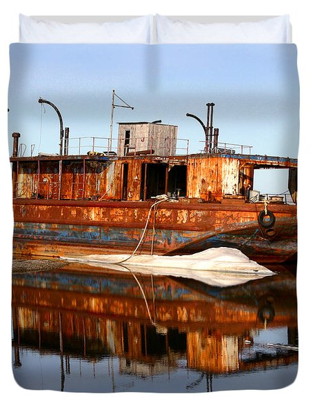 Rusty Barge Duvet Cover by Anthony Jones