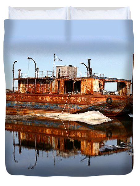 Rusty Barge Duvet Cover