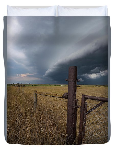 Duvet Cover featuring the photograph Rusty Cage  by Aaron J Groen