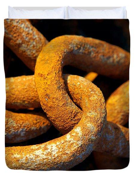 Rusty Chain Duvet Cover by Carlos Caetano
