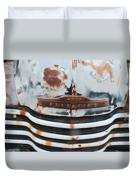 Rusty Chevrolet No. 8216 Duvet Cover