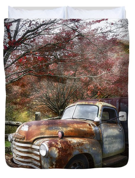 Rusty Chevy Pickup Truck Duvet Cover
