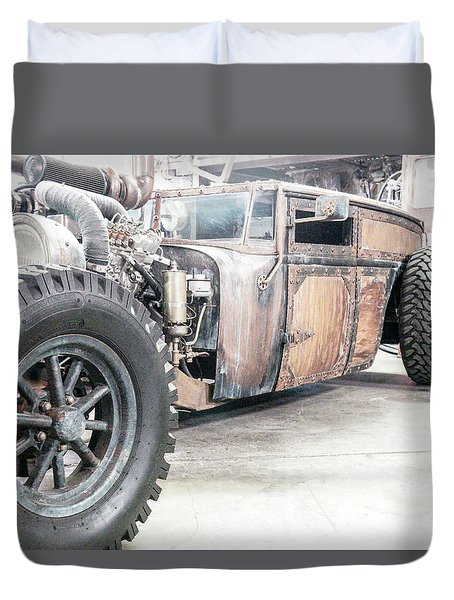 Rusty Crusty With Power Duvet Cover